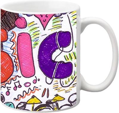 ezyPRNT Music Hand Drawing Ceramic Mug