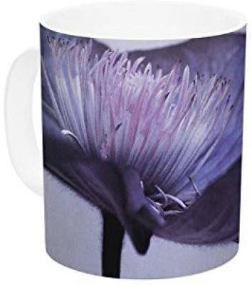 Kess InHouse InHouse Iris Lehnhardt Indigo Purple Sky Ceramic Coffee , 11 oz, Multicolor Ceramic Mug