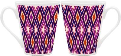 HomeSoGood Bright Vertical Patterns Ceramic Mug