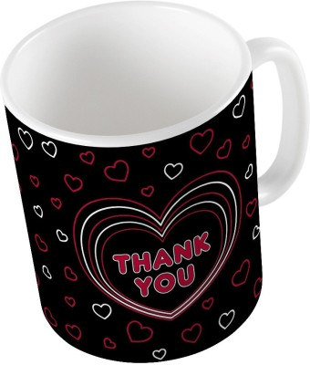 Home India Black Designer Romantic Printed Coffee  753 Ceramic Mug
