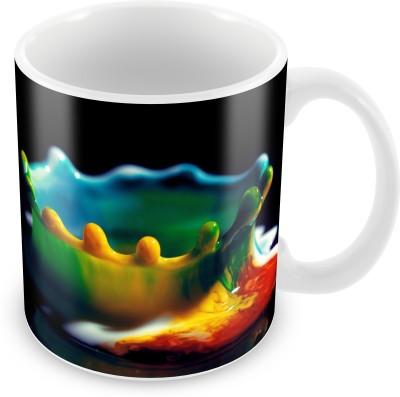 Prinzox Multi Colors Merge Up Ceramic Mug