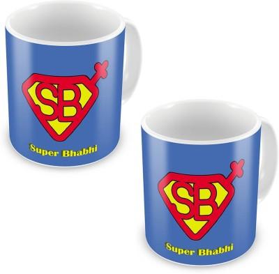 Home India Super Bhabhi Quote Designer Blue Coffee  Pair 535 Ceramic Mug