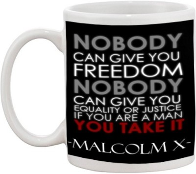 Go online shop Malcolm Quote Ceramic Mug