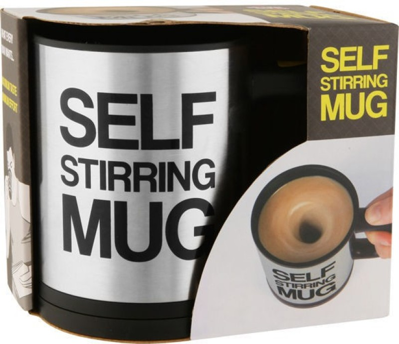 ChinuStyle Self Stirring Plastic Mug(200 ml)