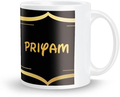 posterchacha Priyam Name Tea And Coffee  For Gift And Self Use Ceramic Mug