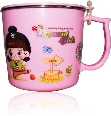 DRL DRL Pink Girl  Plastic, Stainless Steel Mug
