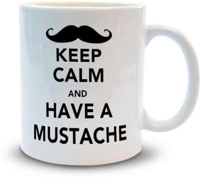 Shoppers Bucket Keep calm have Mustache Ceramic Mug