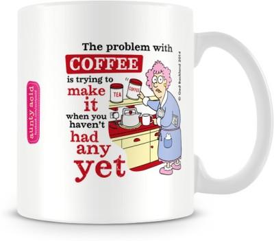 Tashanstreet Aunty Acid Problem with Coffee Ceramic Mug