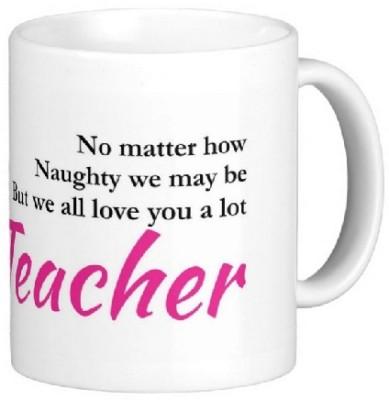 Easyhome We Love You A Lot Teacher Ceramic Mug