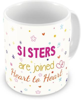 Indian Gift Emporium Cute Lovely Design Printed Coffee  For Sister 537 Ceramic Mug