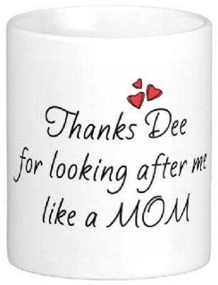 Easyhome Thank You Dee Ceramic Mug