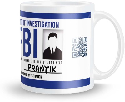 posterchacha Prantik FBI ID Tea And Coffee Ceramic Mug(300 ml)