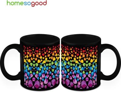 HomeSoGood Colorful Earth Crust (2 s) Ceramic Mug