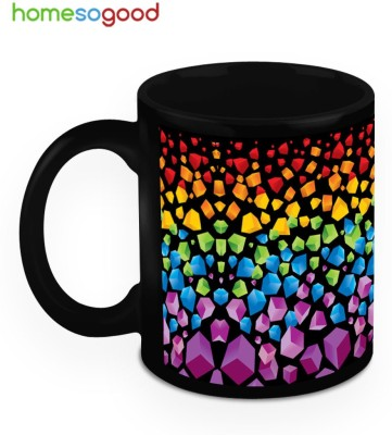 HomeSoGood Colorful Earth Crust Ceramic Mug