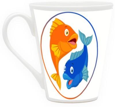 HomeSoGood Zodiac Sign Of Pisces Ceramic Mug
