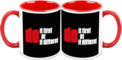 HomeSoGood Do It First Or Do It Different Office Quote Ceramic Mug