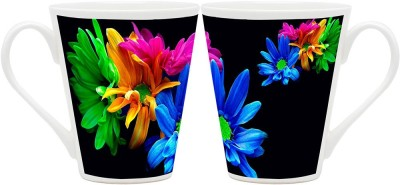 HomeSoGood Extremely Beautiful Flowers (QTY 2) Ceramic Mug