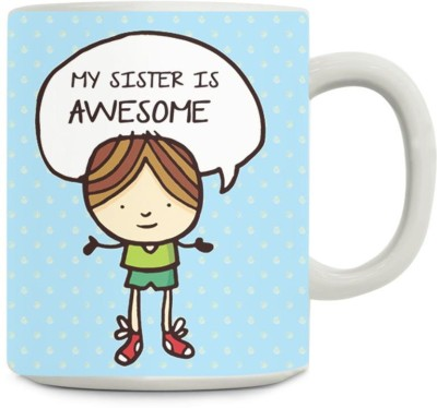 Gifts By Meeta Awesome Sister Ceramic Mug