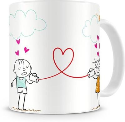Print Haat Love - My Soul Tickle when we talk Ceramic Mug