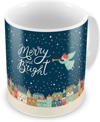 Kiran Udyog Merry n Bright Quote Printed Designer Coffee  615 Ceramic Mug