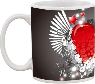 Goonlineshop Lovely Heart Ceramic Mug