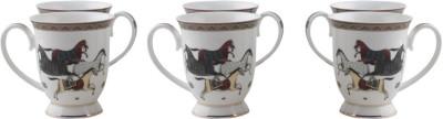 HI LUXE MARINA HORSE MUG SET Porcelain Mug