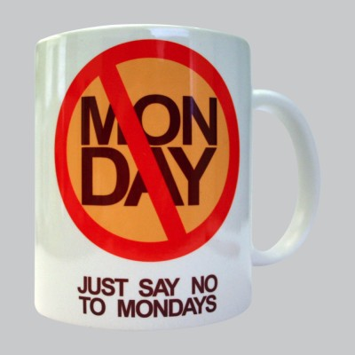 Chimp No To Monday Porcelain Mug