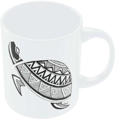 PosterGuy Calmness of The Turtle Line Art Ceramic Mug