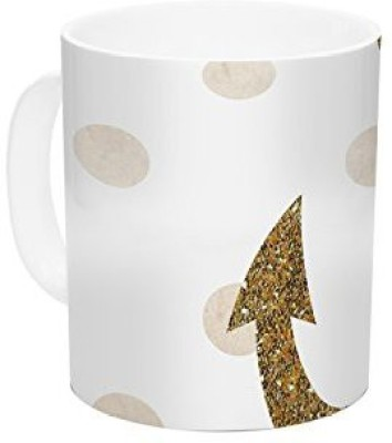 Kess InHouse InHouse Nika Martinez Glitter Anchor Gold Sparkles Ceramic Coffee, 11 oz, Multicolor Ceramic Mug(60 ml) at flipkart