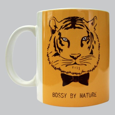 Chimp Bossy By Nature Porcelain Mug