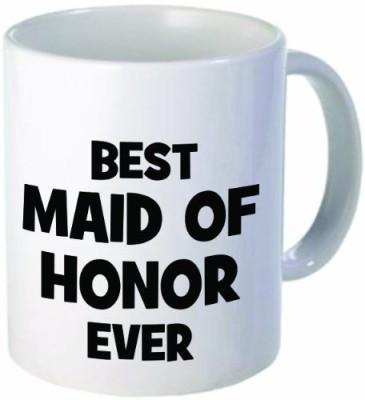 Rikki Knight LLC Knight Best Maid of Honor Ever 11 oz Ceramic Coffee  Cup Ceramic Mug