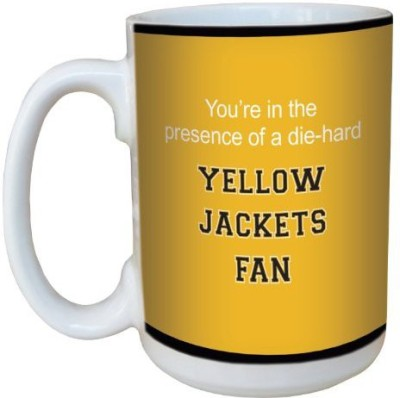 Tree-Free Greetings Greetings lm44720 Yellow Jackets College Basketball Ceramic  with Full-Sized Handle, 15-Ounce Ceramic Mug