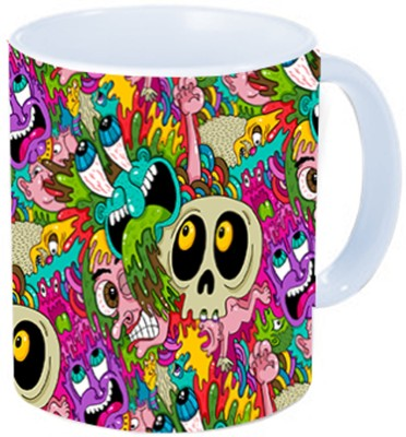 Rawkart doodle horror Ceramic Mug