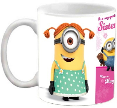 EFW Happy Birthday To A Very Special Sister (Magical Day) Minion Printed Coffee Ceramic Mug