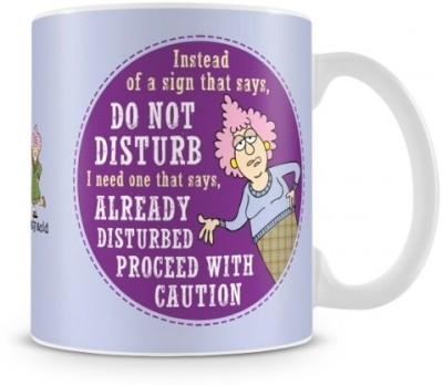 Aunty Acid Do Not Disturb (with Background) Ceramic Mug