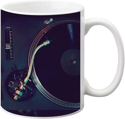 ezyPRNT Musical Records Ceramic Mug