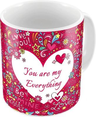 Indiangiftemporium Cute Designer Romantic Printed Coffee  689 Ceramic Mug