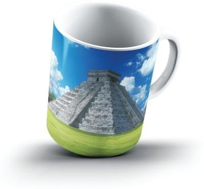 Ucard Pyramid Of Kukulkбn Chichen Itza Yucatan Peninsula Mexico2621 Bone China, Ceramic, Porcelain Mug