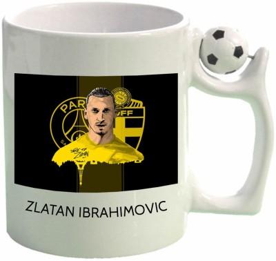 Huppme Zlatan Ibrahimovic Football  Ceramic Mug