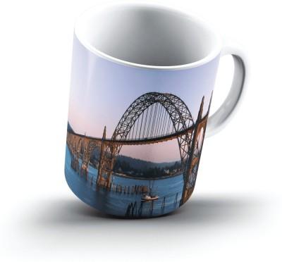 Ucard Yaquina Bay Bridge Newport Oregon2708 Bone China, Ceramic, Porcelain Mug