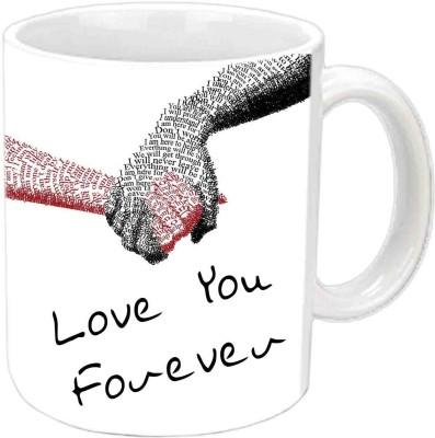 Jiya Creation Love You Forever White  Ceramic Mug