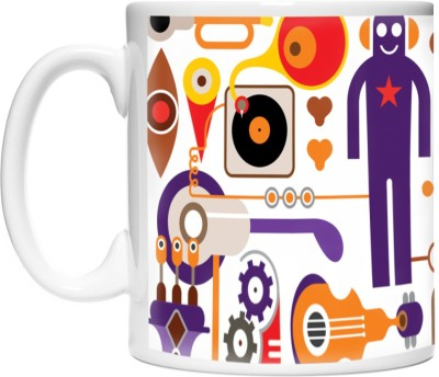 Pinqart Artistic Vector Design Fun & Music Ceramic Mug