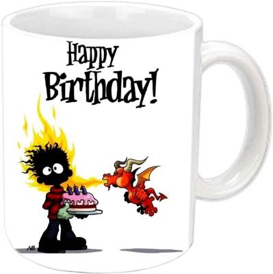 RajLaxmi burning dragon white Ceramic Mug