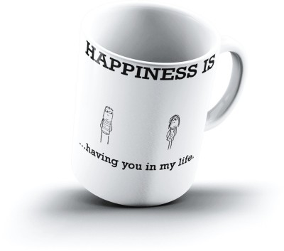 Ucard Happiness Is1262 Bone China, Ceramic, Porcelain Mug