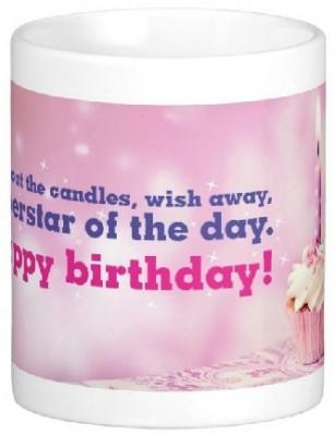 Easyhome Happy Birthday Star Of Day Ceramic Mug