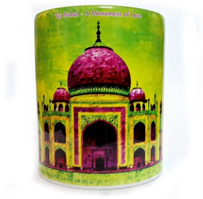 Indiavibes Printed Coffee Tea  with Tajmahal Theme Ceramic Mug