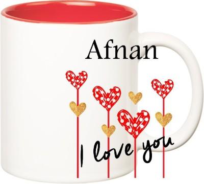 Huppme I Love You Afnan Inner Red  (350 ml) Ceramic Mug