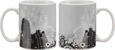 Artifa City Landscape Porcelain, Ceramic Mug