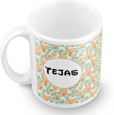 posterchacha Tejas Floral Design Name  Ceramic Mug