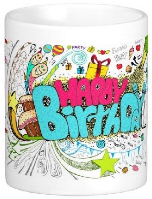 Easyhome Happy Birthday Joker Theme Ceramic Mug